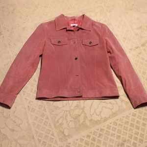 Charter Club pink suede jacket